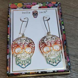 Bella Jack Colorful Skull Dangle Earrings